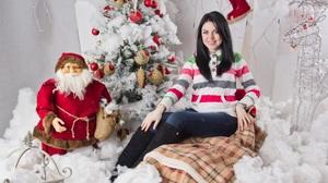 Christmas Girl Model Woman 2560x1706 Wallpaper