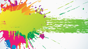Colorful Abstract Paint Splash White Background 1920x1080 Wallpaper