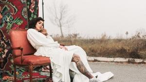 Model Tattoo Brunette 2048x1536 Wallpaper