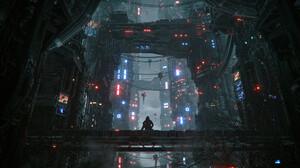 Artwork City Futuristic Science Fiction 1920x1200 wallpaper