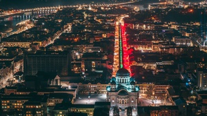 Lithuania City Night Building 3840x2557 Wallpaper