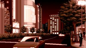 Pixel Art Pixelated Pixels Digital Art Car Building People Street Brown Trees Urban Road 2176x1152 Wallpaper