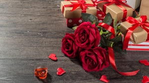 Flower Gift Heart Love Romantic Rose Valentine 039 S Day 4500x3004 wallpaper
