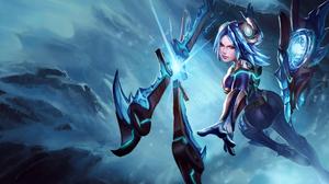 Blue Hair Girl Irelia League Of Legends League Of Legends Weapon Woman Warrior 1980x1080 Wallpaper