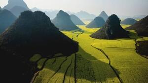 Photography Nature Landscape Rice Paddy Field Mountains Vietnam 1920x1200 Wallpaper