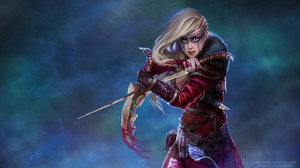 Blonde Dagger Girl Heterochromia Viking Woman Warrior 1920x1080 Wallpaper