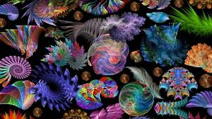 Abstract Colorful Colors Shell 1600x1200 Wallpaper