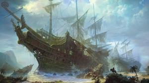 Pirate Shipwreck 2000x1250 Wallpaper