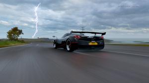 Supercars Forza Horizon 4 Forza Horizon In Game Screen Shot Video Games Lightning Huayra Pagani Huay 3840x2160 Wallpaper
