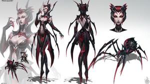 Anime Girls Concept Art League Of Legends Elise League Of Legends 2087x1275 Wallpaper