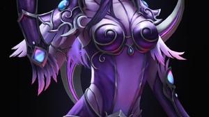 Warcraft World Of Warcraft Blizzard Entertainment Alisa Nilsen Women Fantasy Girl Purple Hair Purple 1581x2160 wallpaper