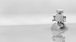3d Cgi Minimalist Reflection Robot White 2560x1600 Wallpaper