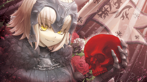 Avenger Fate Grand Order Banner Blonde Jeanne D 039 Arc Alter Rose Short Hair Skull Yellow Eyes 2481x1687 wallpaper