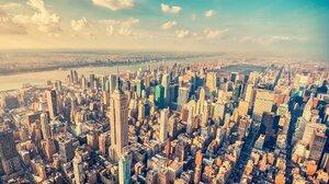 Building City Cityscape Horizon Manhattan New York Skyscraper Usa 1920x1200 Wallpaper
