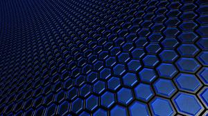Blue Hexagon Pattern 1920x1200 Wallpaper