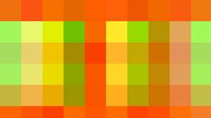 Abstract Colorful Digital Art Geometry Green Shapes Square Yellow Orange Color 1920x1080 Wallpaper