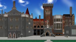 Castle Mansion 2539x945 Wallpaper