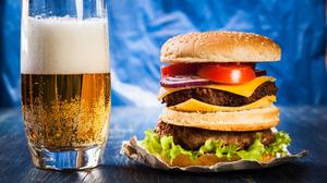 Alcohol Beer Burger Drink 5600x3733 Wallpaper