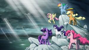Applejack My Little Pony Fluttershy My Little Pony My Little Pony Pinkie Pie Rainbow Dash Rarity My  1800x1013 Wallpaper