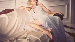 Actress Blonde Blue Eyes German White Dress 1920x1440 Wallpaper