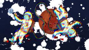 Space Glitch Art Astronaut Earth Color Burst Artwork Space Art 1920x1080 Wallpaper