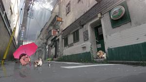 Cat City Mouse Post Apocalyptic Skull Umbrella 2800x1982 Wallpaper