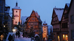 Germany Street Architecture Snow 2048x1371 Wallpaper