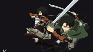 Levi Ackerman Mikasa Ackerman 2100x1321 Wallpaper