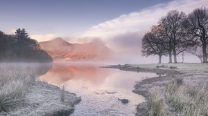 Fog Nature Reflection Tree Winter 2048x1310 Wallpaper