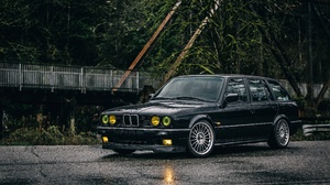 Car Vehicle Black Cars Wet BMW BMW E30 2560x1707 Wallpaper