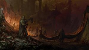 Giant Skull Sword Warrior 6000x2004 Wallpaper