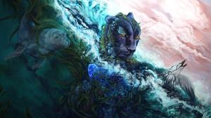 Animal Bird Seal Tiger Water 3200x1900 Wallpaper