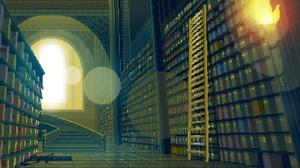 Artistic Library Pixel 1920x1080 Wallpaper