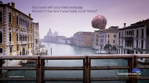 Artwork Commercial Cityscape Brain 1366x768 Wallpaper