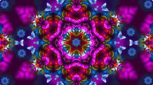 Artistic Butterfly Colors Digital Art Flower Pattern 1920x1080 Wallpaper