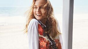 Actress Blonde Blue Eyes Diane Kruger Face German Smile 3456x2523 wallpaper