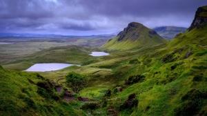 Cloud Hill Nature Rock Scotland Sky 3840x2400 Wallpaper