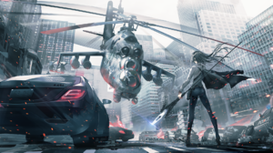 Aircraft Mi 24 Car Long Hair Spear City Building Helicopter 1920x1080 Wallpaper