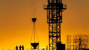 Architecture Photography Workers Silhouette Construction Site People Men Steel Beam Cranes Machine W 1920x1280 Wallpaper