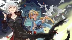 Bird Crow Dove Fate Series Headpiece Jeanne D 039 Arc Fate Series Jeanne D 039 Arc Alter Kimono Rule 3200x2000 Wallpaper