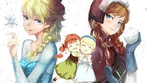 Anna Frozen Elsa Frozen Frozen Movie 2000x1492 Wallpaper