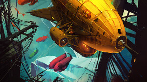 Fantasy Art Artwork Zeppelin Steampunk Digital Art 1787x2300 Wallpaper