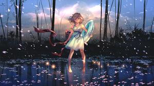 Girl Original Anime Short Hair 3840x2160 Wallpaper