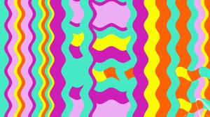 Colorful Digital Art Geometry Shapes Wave Yellow Orange Color 1920x1200 Wallpaper