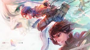 Armin Arlert Attack On Titan Eren Yeager Mikasa Ackerman 1920x1366 Wallpaper