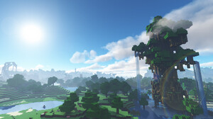 Forest Jungle Minecraft Mojang Sky Tree 1920x1080 Wallpaper