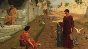Artwork Painting Greek Greece Classic Art Birds Women 1600x1251 Wallpaper