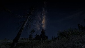 Red Dead Redemption Red Dead Redemption 2 Video Games Screen Shot Nature Stars Trees Horse Cowboys 1920x1072 Wallpaper