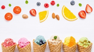 Ice Cream Still Life Waffle Cone 5385x3366 Wallpaper