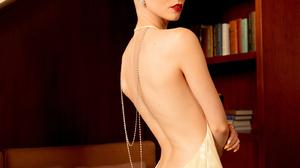 Anya Taylor Joy Women Actress Blonde Yellow Dress Women Indoors Makeup 1537x2160 wallpaper